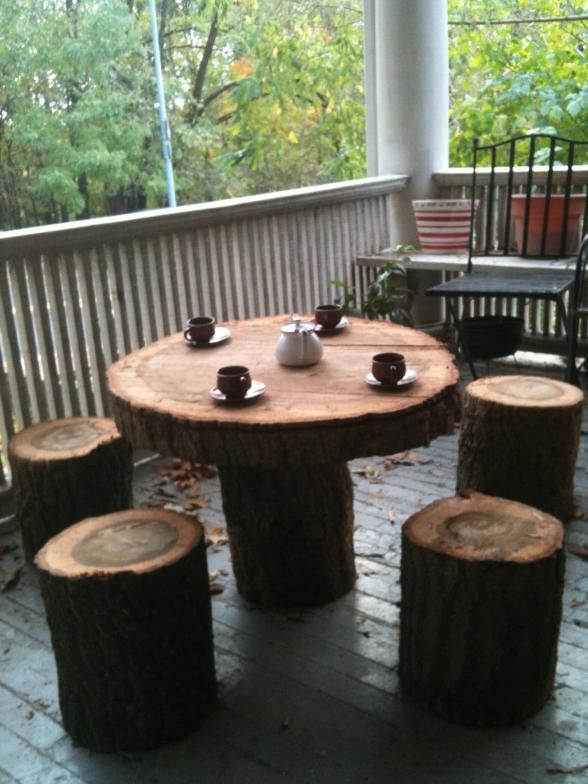Trunk as Patio & Coffee Table