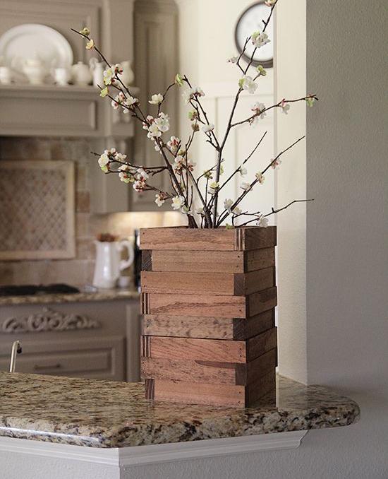 Wood Vase DIY