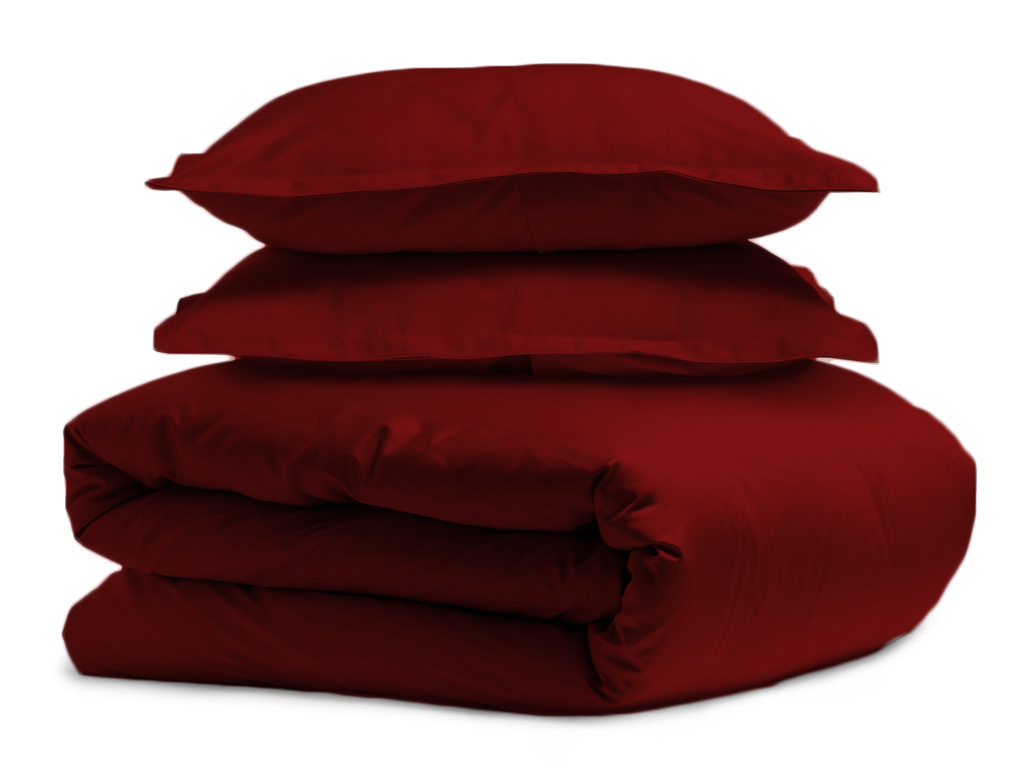 burgundy duvet and pillow covers